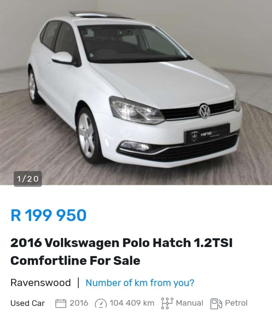 2016 VW Polo hatch. You can drive away in it with a sense of fulfillment for only R199 950. #vw  #vwpolo   #gauteng  #boksburg   #johannesburg  #eastrand