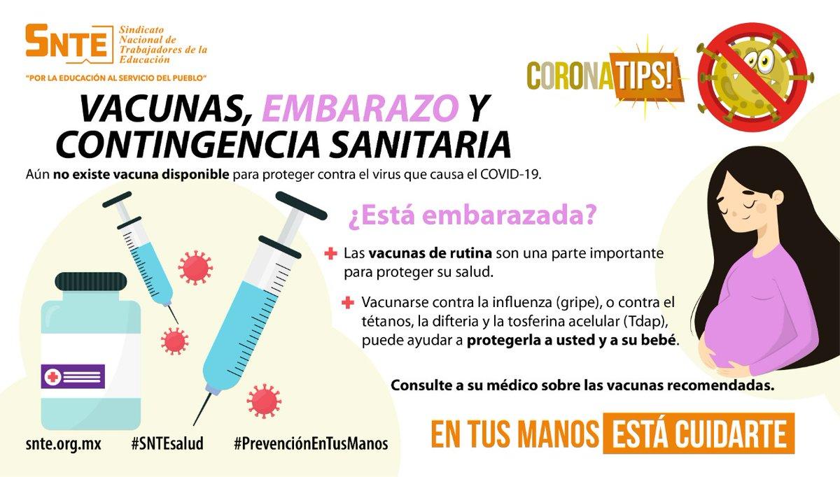#SNTEsalud ⚕️ La salud de embarazadas🤱 en #Cuarentena #coronavirus #COVID19 🦠 es vital‼️ Ve su cartilla de vacunación💉 que no falten 👉Ayuda su sistema inmune #QuedateEnCasa #FelizMartes #26Mayo México #CuidaAQuienTeCuida #DarkNetflix #PoderosoLimbo Witzel #COVID__19 Tear