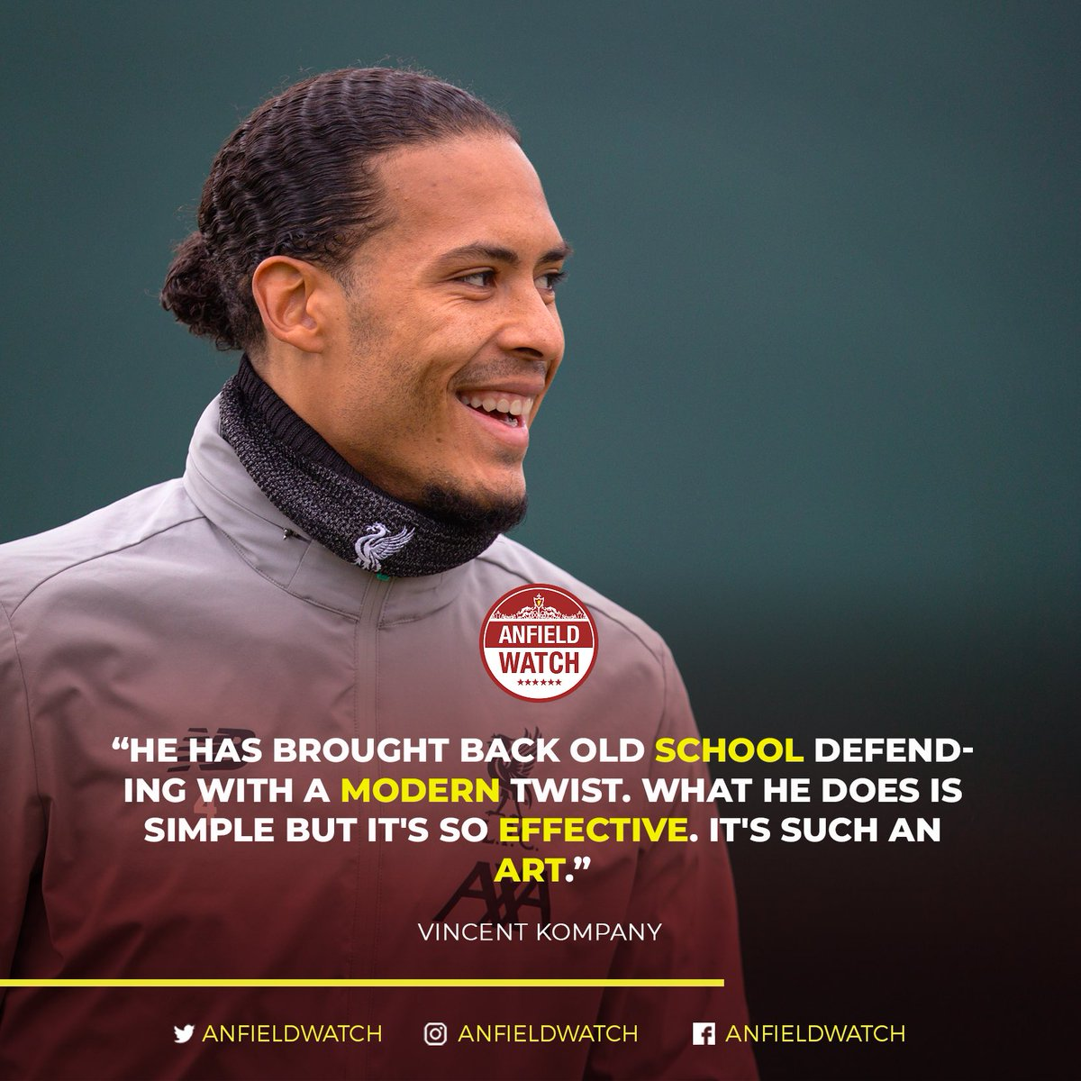 Vincent Kompany has reiterated his belief that Virgil van Dijk is the greatest ever defender in Premier League history. 🙌⁣