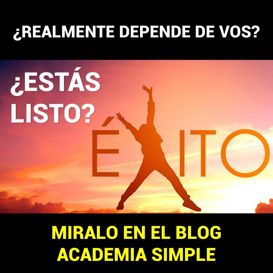 MIRALO ACÁ: https://academiasimple.com/como-ser-exitoso-y-millonario/…  #emprendersimple #emprendermas #academiasimple #argentina #mexico #uruguay #caba #bsas #cordoba #santafe #mendozapic.twitter.com/TWmo82ARFd