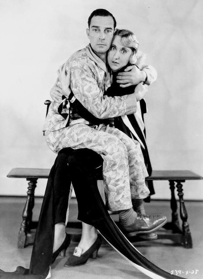 A publicity photo for Parlor, Bedroom and Bath (1931) with #BusterKeaton and Charlotte Greenwood. #BusterLove🍀