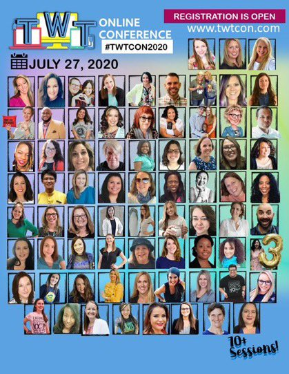 Registration is open for #TWTCon2020🥳 👉teachwithtechconference.com