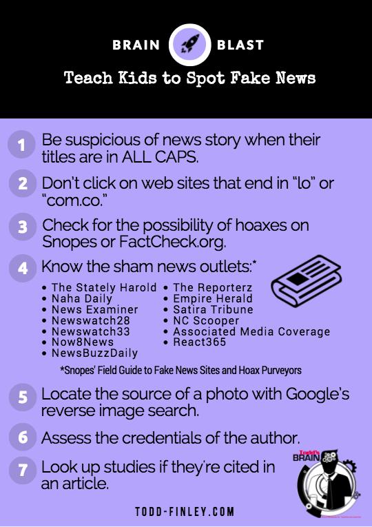 Teach students to spot fake news |  Brain Blast   #edchat #elearning pic.twitter.com/mlla1wURMz