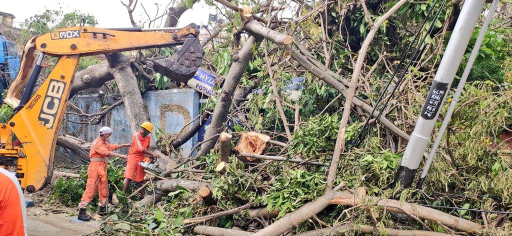 #CycloneAmphan Updates 26/5/20- 𝐃𝐀𝐘6-#PostAmphanRestoration NDRF @ Restoration Work at Mukherjee Road, KMC Kolkata, West Bengal #NDRF4U #Committed2Serve @satyaprad1 @ndmaindia @PMOIndia @HMOIndia @PIBHomeAffairs @BhallaAjay26 @DDNewslive @ANI @airnewsalerts @PTI_News