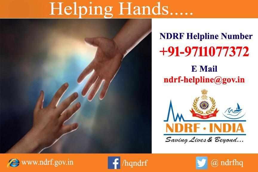 """""""Helping Hands of NDRF"""" helping the hands of Bollywood actor Sonu Sood in helping the shramiks proceeding to their native places. God bless good souls."""