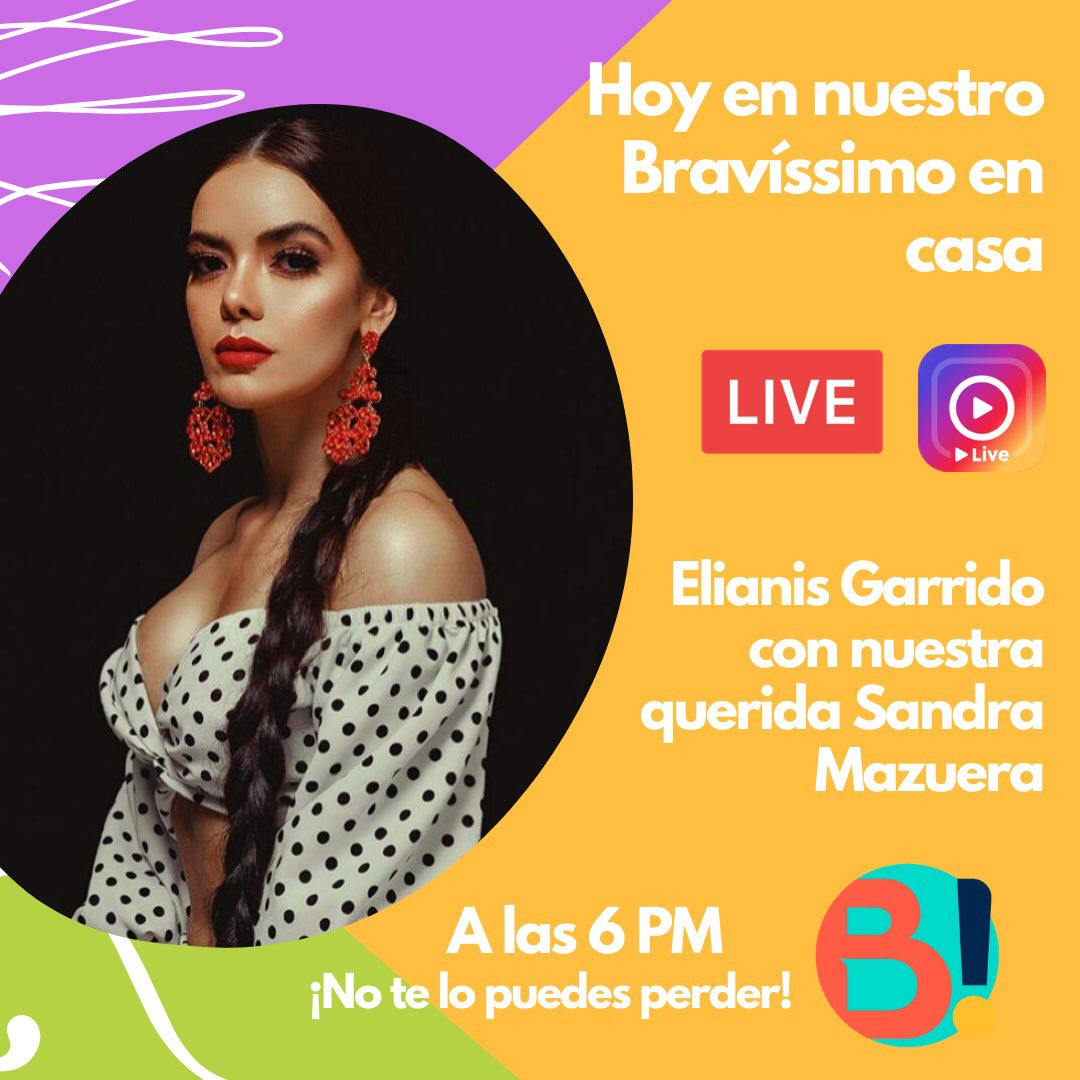 Familia hoy tenemos una cita muy especial con la gran actriz presentadora y bailarina @ELIANISGARRIDO de la mano de nuestra querida @sandramazuera1 Los esperamos 🙌🏻🤩 @YoSoyImitador @moni_molano @MarceloCezan https://t.co/T3SxXVwB0f