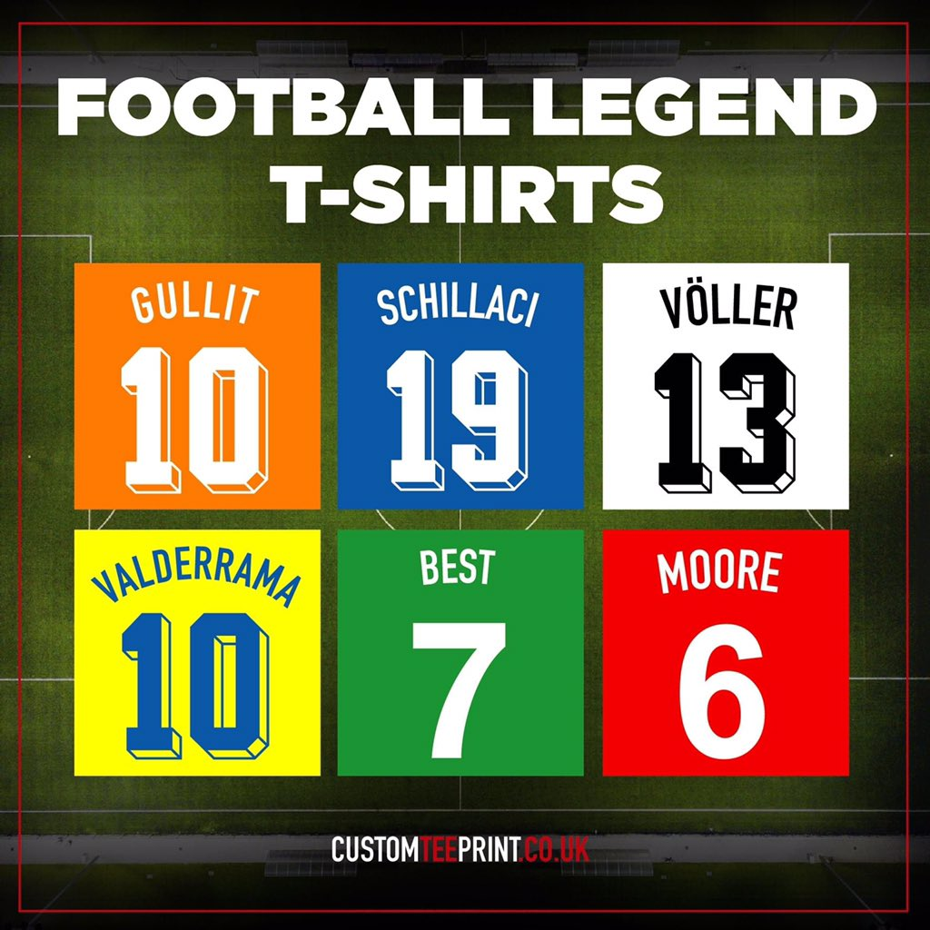 Check out our huge range of football legend tees ⚽ >> bit.ly/3bYM3eI