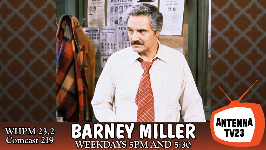#HalLinden in #BarneyMiller -- back-to-back episodes start today and every weekday at 5 p.m. on #AntennaTV23 (WHPM 23.2/Comcast 219).  Visit  http:// whpm.antennatv.tv      for more details.<br>http://pic.twitter.com/IOzWFZiALK