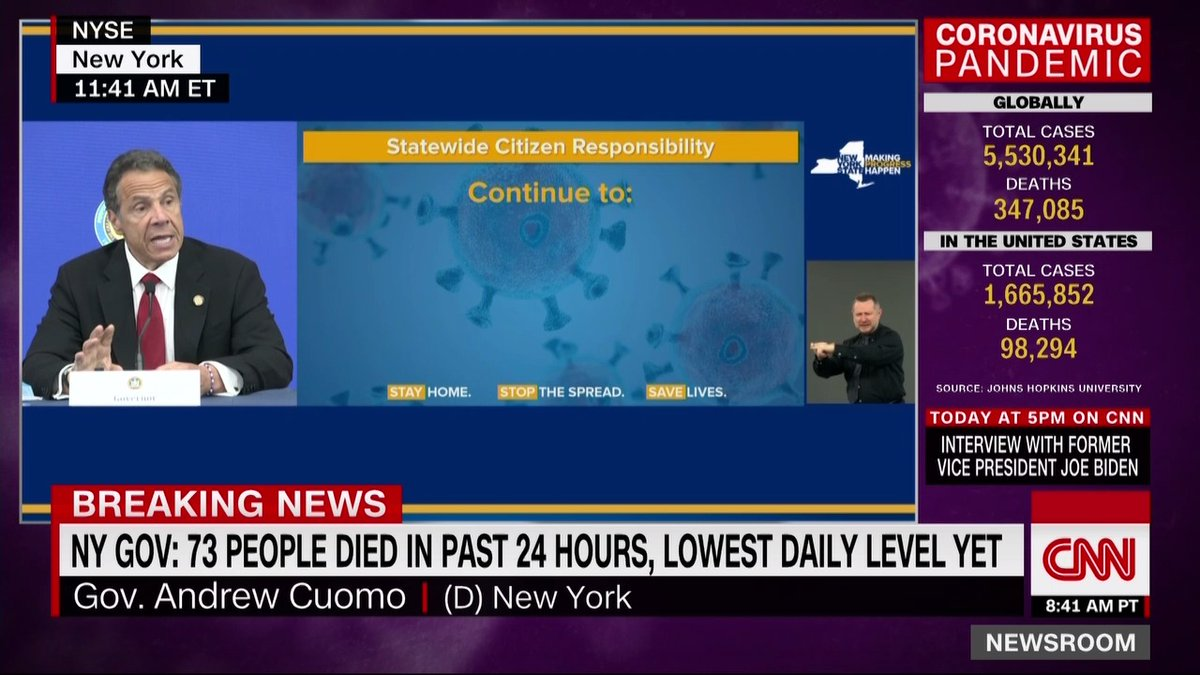 "New York Gov. Andrew Cuomo: ""Wearing a mask is now cool. I believe its cool. If I could sign an executive order that says wearing a mask is officially cool ... wearing the mask has got to be something you do every day"" cnn.it/2VxYpW9"