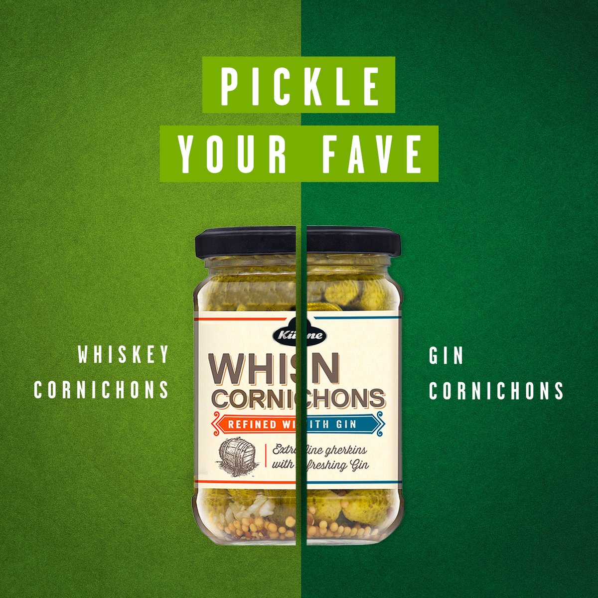 Which of these most pickles your fancy? Vote below using the following emojis!     for #Whiskey Cornichons  for #Gin Cornichonspic.twitter.com/MGax9h6Ry9