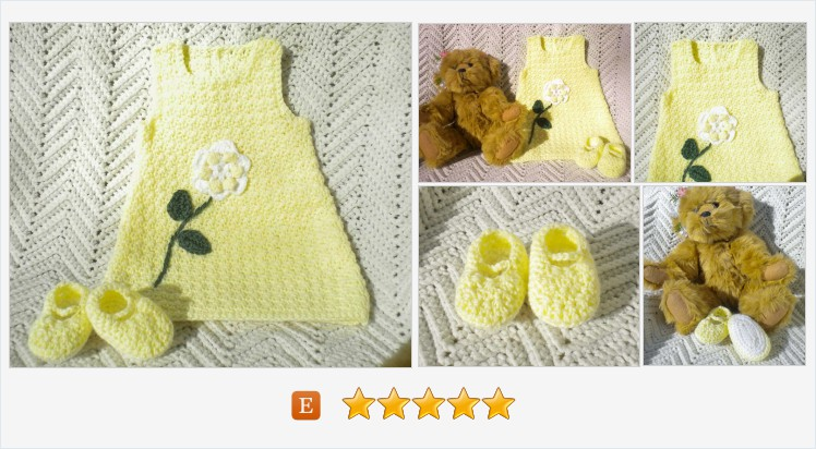 #Newborn #Sundress #Crocheted Baby Girl Spring Summer Yellow w Flower Maryjanes 0-3 mo @MagdaleneKnits  https://www.etsy.com/MagdaleneKnits/listing/270657587/newborn-sundress-crocheted-baby-girl?ref=shop_home_active_8 …pic.twitter.com/XqP2q5HbSb