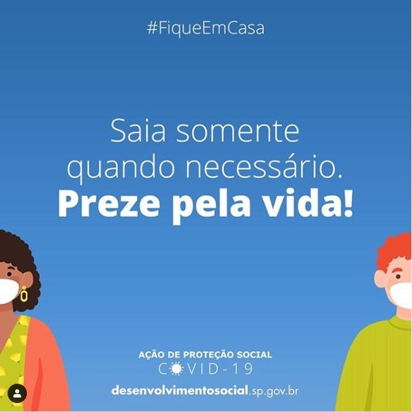 #Repost @desenvolvimentosocialsp (@get_repost) ・・・ Respeite o isolamento social! Saia somente quando necessário.  Cada vida vale! #fiqueemcasa pic.twitter.com/KzTyNubX8X
