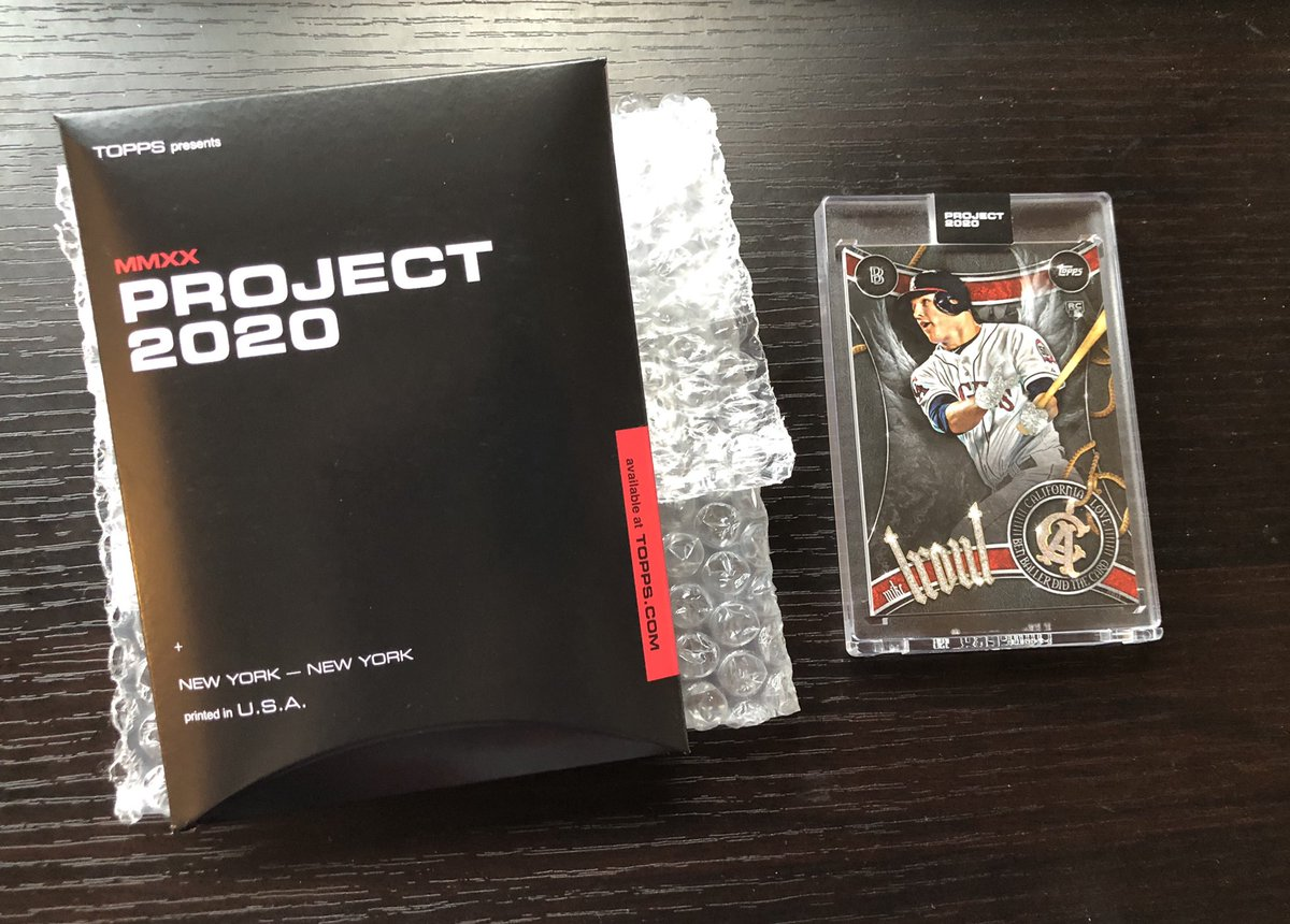Okay I'm selling another one. Project 2020 Mike Trout #51 by Ben Baller -  $210 BMWT, in hand with Box, card in Ultra Pro one touch. Price good till 4PM Eastern. @HobbyConnectorpic.twitter.com/8vzn1gXGWj