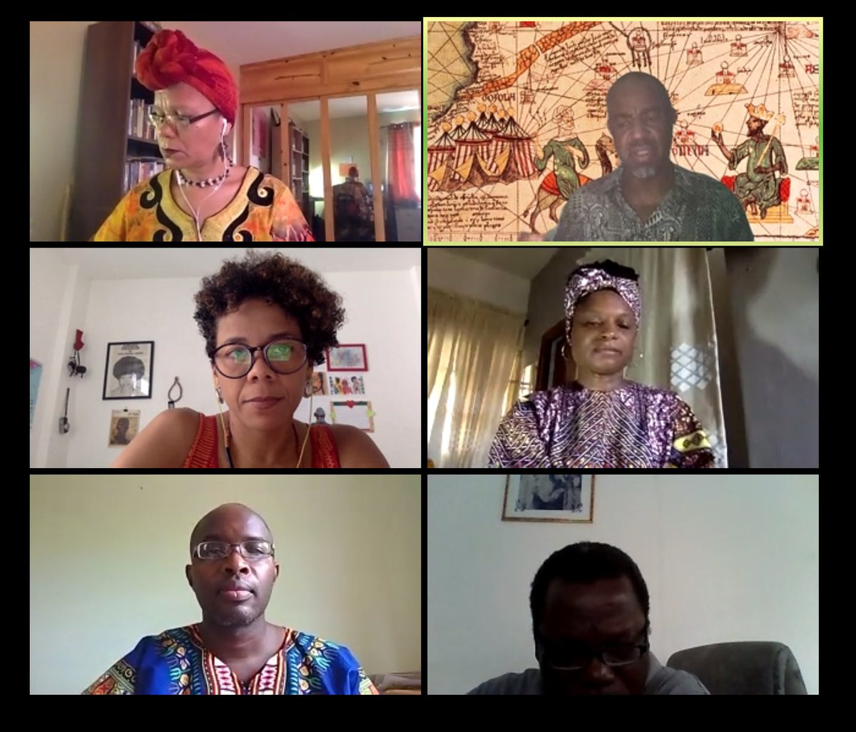 The COVID-19 and the African Diaspora An International Forum Part 2 panelists and moderator #covid19africa #covid19caribbean #covid19latinamerica