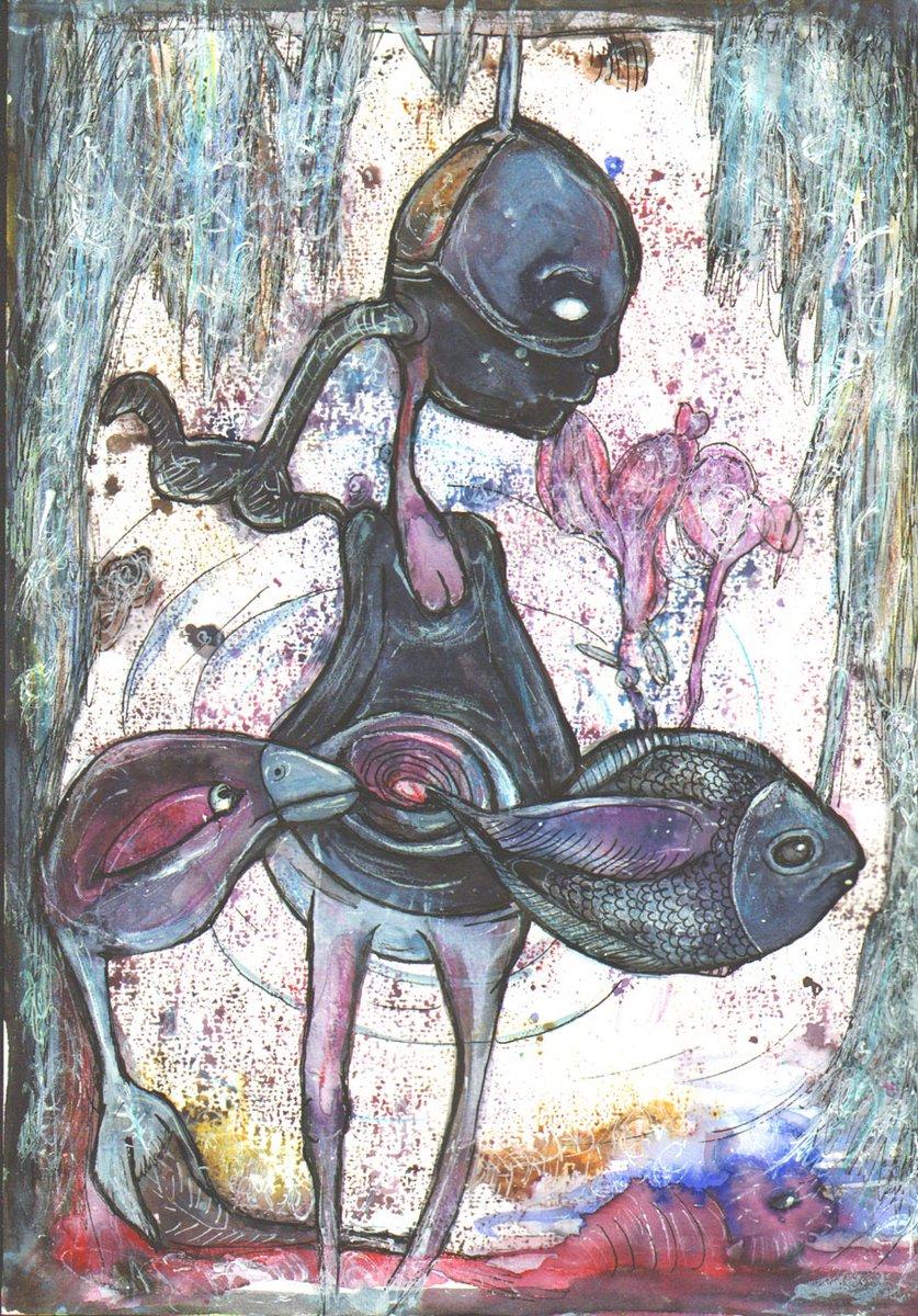 Depressed feeling #art #arte #encres #encre #ink #inks #dessin #draw #drawing #outsiderart #artsingulier #randomink #hasarddesencres #auhasarddesencres #colorinspiration #soniahivert #figurativeart #figurativedrawing #artfiguratif #artwork #depressedpic.twitter.com/jDIdmqsptt