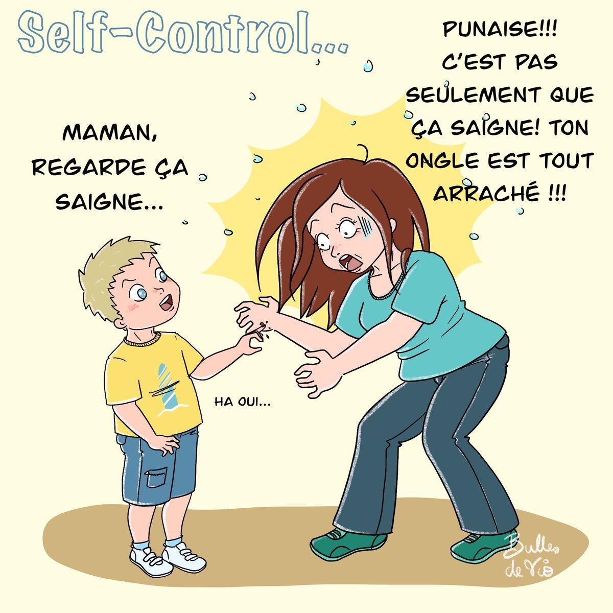 Et c'est là que je me suis rendue compte que mon fils n'était pas un enfant douillet! 😅 ça a fini aux urgences quand même avec petite opération pour sauver l'ongle et 2 points de suture... Courageux mon gamin! #maman #enfant #famille #selfcontrol #bobo #urgence #dessin #bd