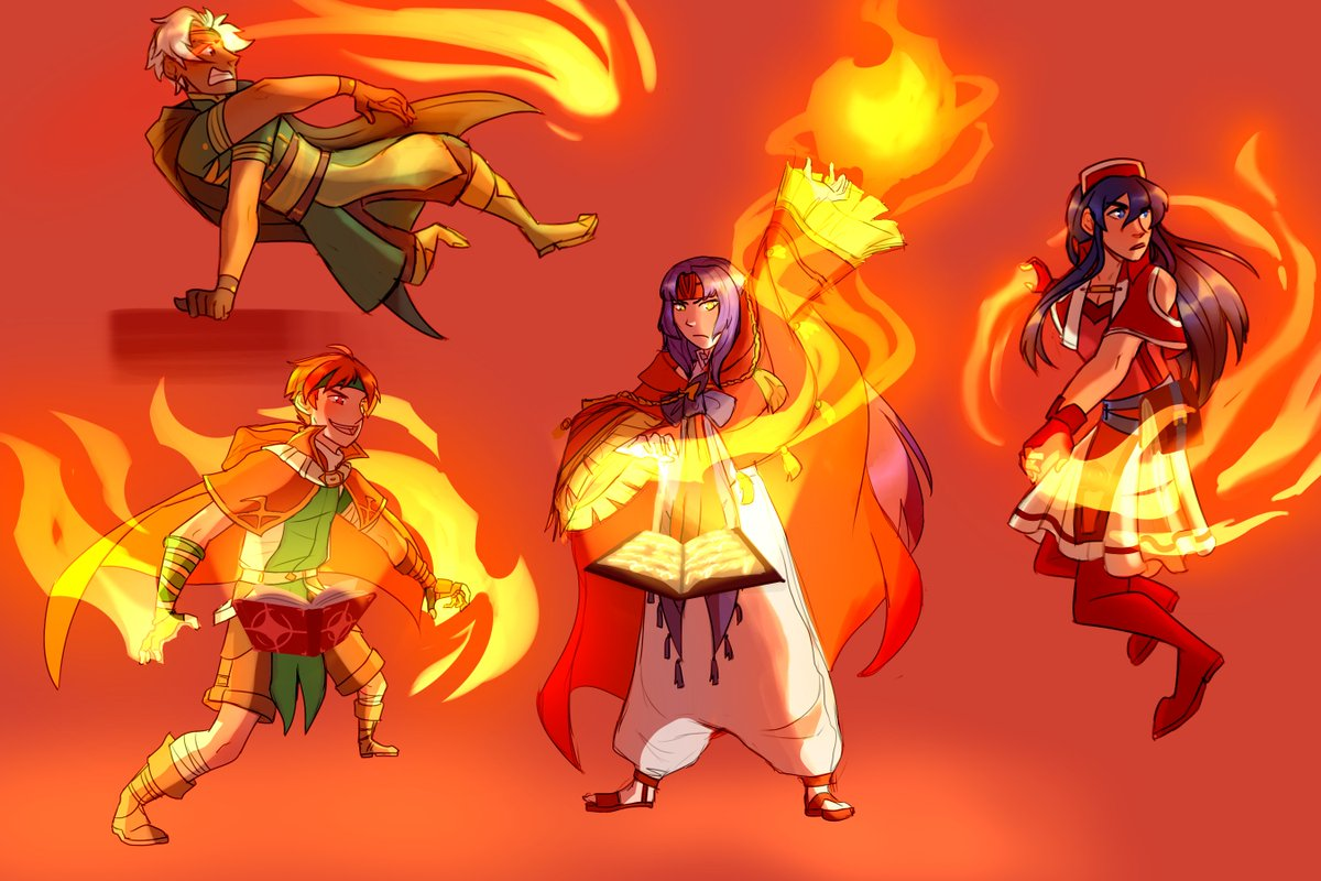 here's all four parts of my #fe kid mage series! pic.twitter.com/3D6rHrt9Z3