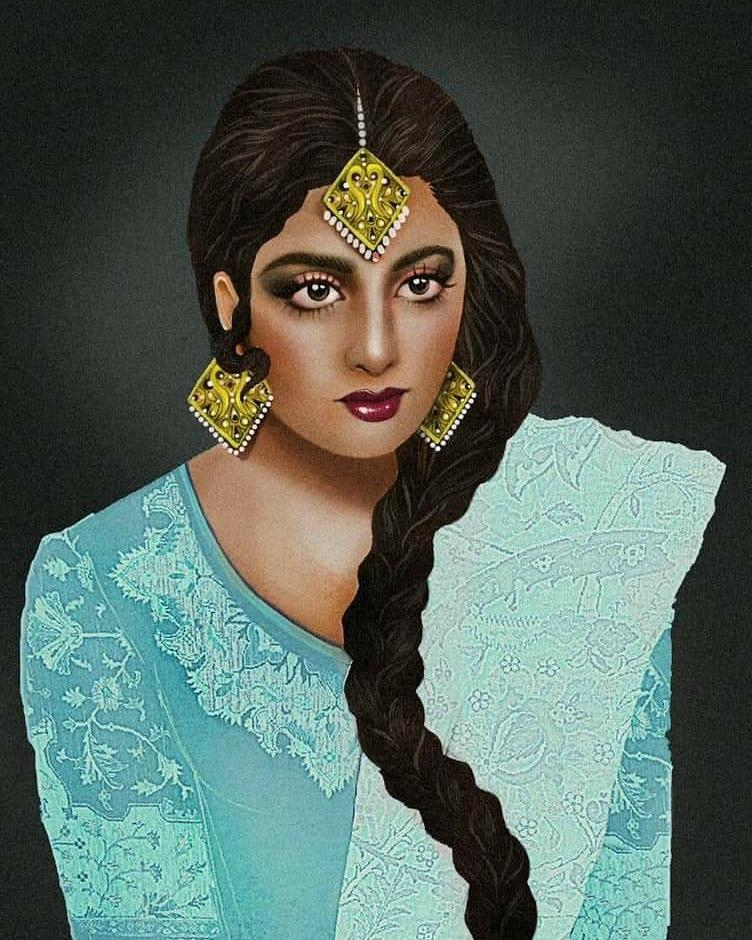 A Fan Art -  @SrideviBKapoor #Sridevi  #SrideviLivesForever  #SrideviIsImmortal