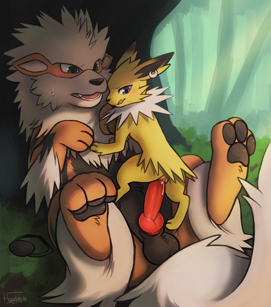 Lucario Gets Rammed By A Arcanine
