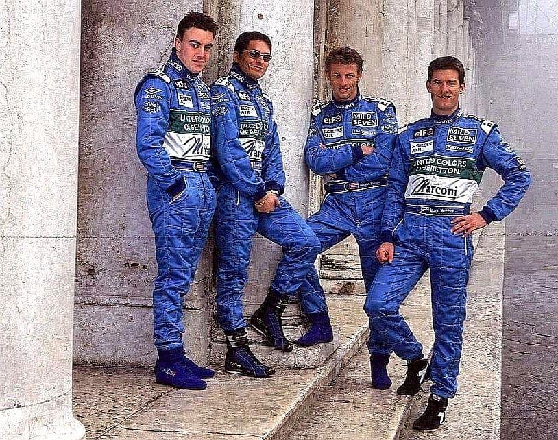 #Repost @OfficialFisico Young drivers in Venice... #f1 #formula1 #Ficsichalla #Alonso #Button #Webber #Benetton 2000 #MildSevenBenettonPlaylife #EuropeanArrowsF3000 #Astromega https://t.co/aJgHnWNl4W