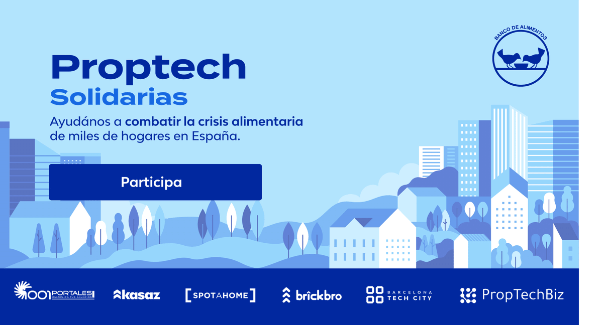 Campaña de #crowdfunding para que los bancos de alimentos sigan ayudando.Las compañías proptech españolas queremos ayudar enesta difícil situación.#Proptecsolidarias  https://t.co/g3XhNBnSgN https://t.co/IUdV9O3xrG