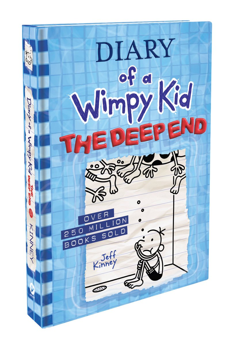 My son LOVES the Diary of the Wimpy Kids Books! Today @WimpyKid celebrates the debut of the #WimpyKid15 cover!Jeff Kinney's new book, Diary of a Wimpy Kid: The Deep End, hits shelves Oct 27. #WimpyKid fans get all the info :https://t.co/q5rXutVjrA #ad TM and © 2020 Wimpy Kid,Inc. https://t.co/Lz3CqzZKKF