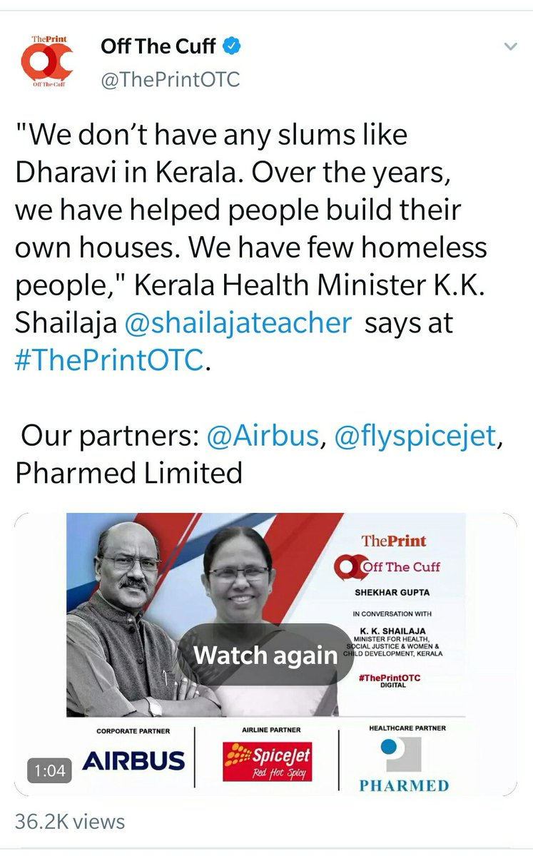 With all due respect to the point being made,the economy of Dharavi will be equal to or greater than the economy of Kerala(minus the remittances from abroad).I once met a Dharavi resident who owns an Engg. college in Tirunelveli.If you see his Dharavi house,you won't believe it. pic.twitter.com/LCgE8eb6sz