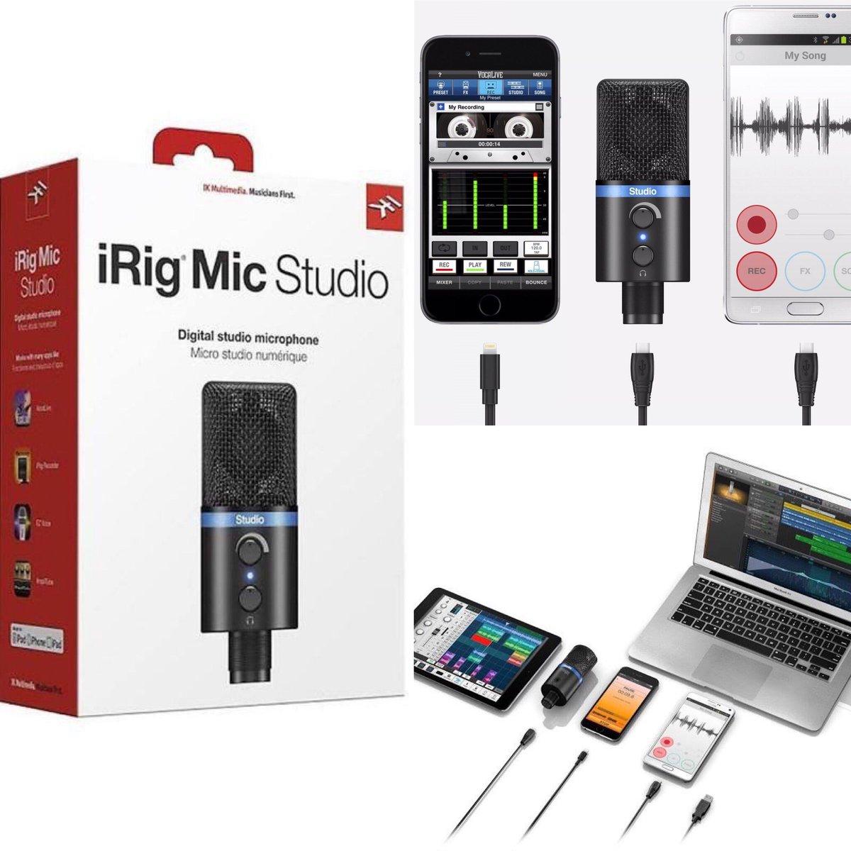 IK Multimedia :: iRig Mic Studio  Compatible con Mac/Pc , IOS/Android  Aprovecha nuestros descuentos!!   Contáctanos:  097 912 5101 (WhatsApp)  #MasMusika #IKmultimedia #Condenser #Ecuador #descuentos #CuarentenaCreativa #QuédateEnCasa https://t.co/5d7wTyOCDd