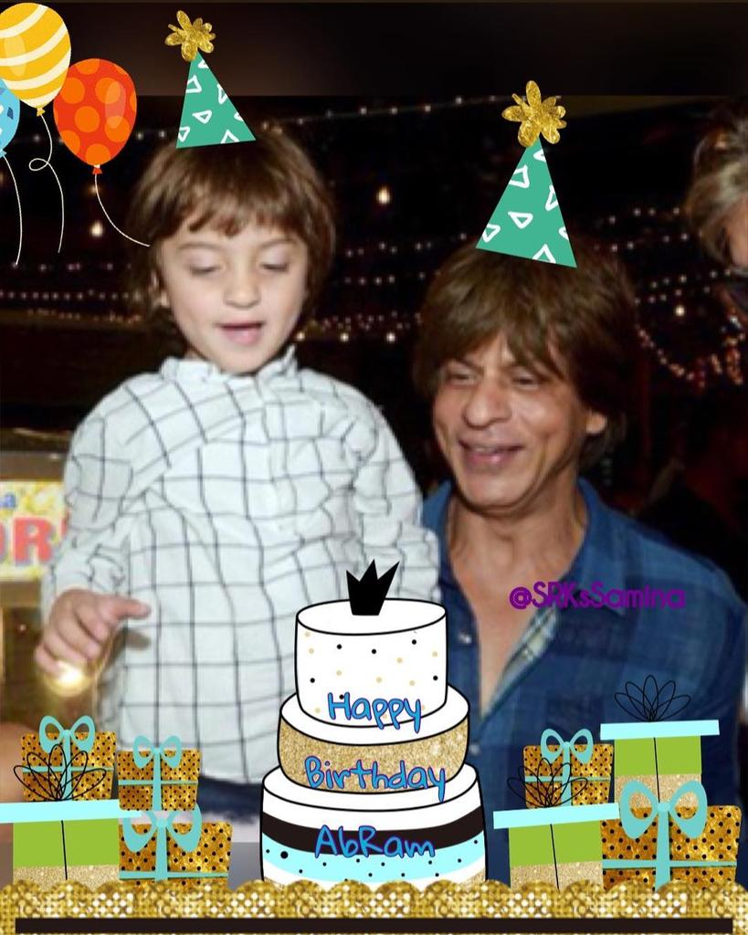 Happiest Birthday to AbRam🎂🎂 May your birthday bring you Good luck for a whole year....😘  #HappyBirthdayAbRam