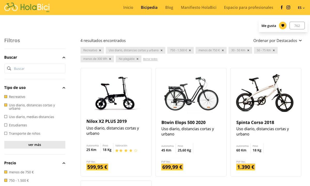 La Bicipedia: un gigantesco buscador comparativo de bicicletas eléctricas #gadgets | por @Alvy https://t.co/F3AuAHkfqu https://t.co/44HMYwFLua