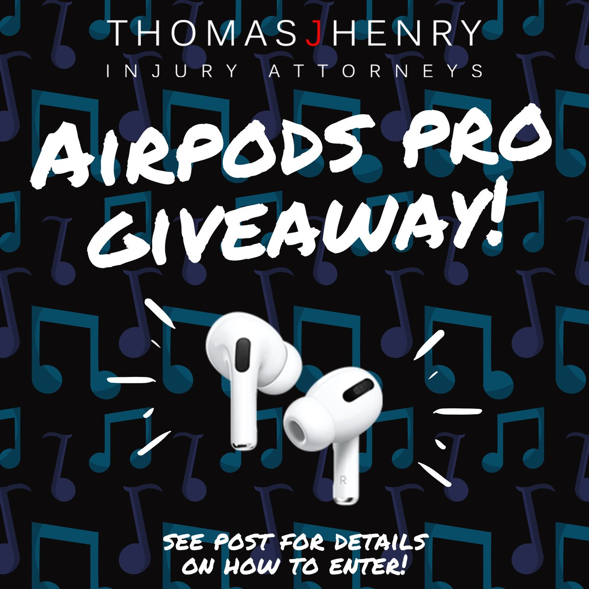 AIRPODS PRO GIVEAWAY!   We hope everybody had a great long weekend! We're excited to be giving away the Airpods Pro, with Active Noise Cancellation for immersive sound. <br>http://pic.twitter.com/T3RQy8qo4Q