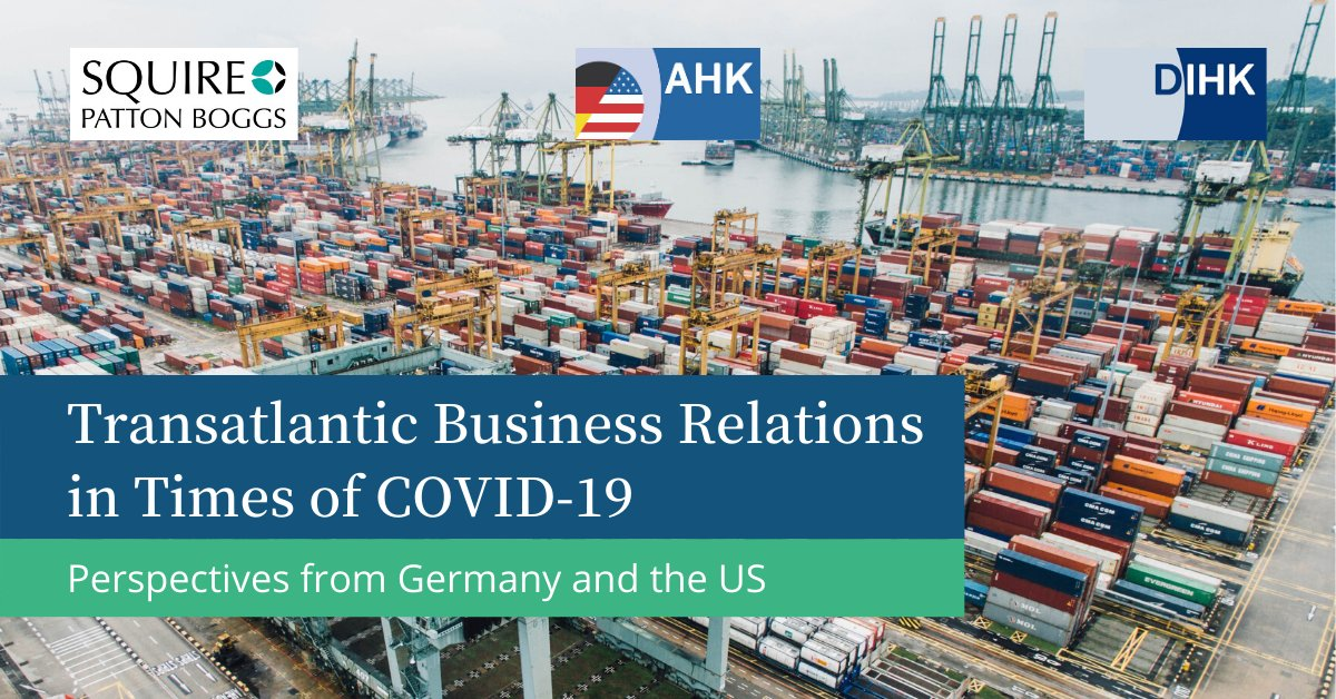 Join the German American Chambers of Commerce for an exclusive discussion on #Transatlantic #Business #Relations in times of #COVID-19 with a special focus on perspectives from the #US and #Germany. When? May 27th | 8 am PST | 5 pm CEST. Register for free: https://bit.ly/3cBYGxf pic.twitter.com/J69JllalK4