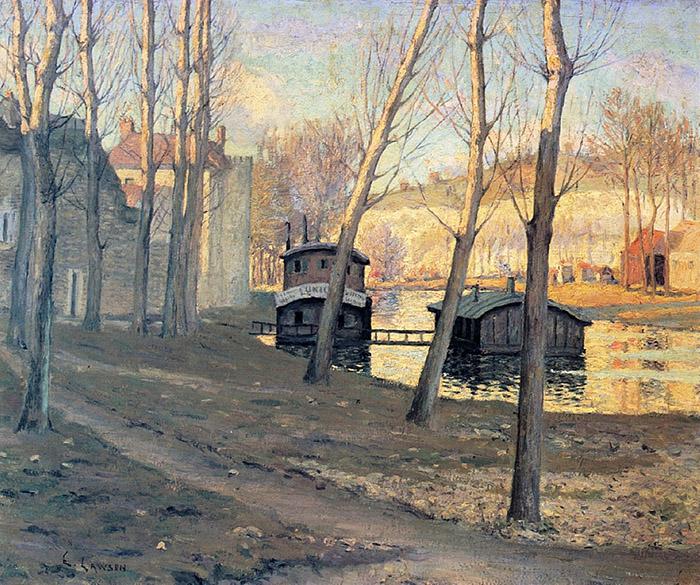 Ernest Lawson - Moret-Sur-Loing, 1895   #worldart #painting #art #artist #gallery #oilpainting #watercolor #visualart #artshop #paintingforsale #drawing #artist #artwork #illustration #sketch #draw #creative #design #color #arte #love #acrylic #iloveart