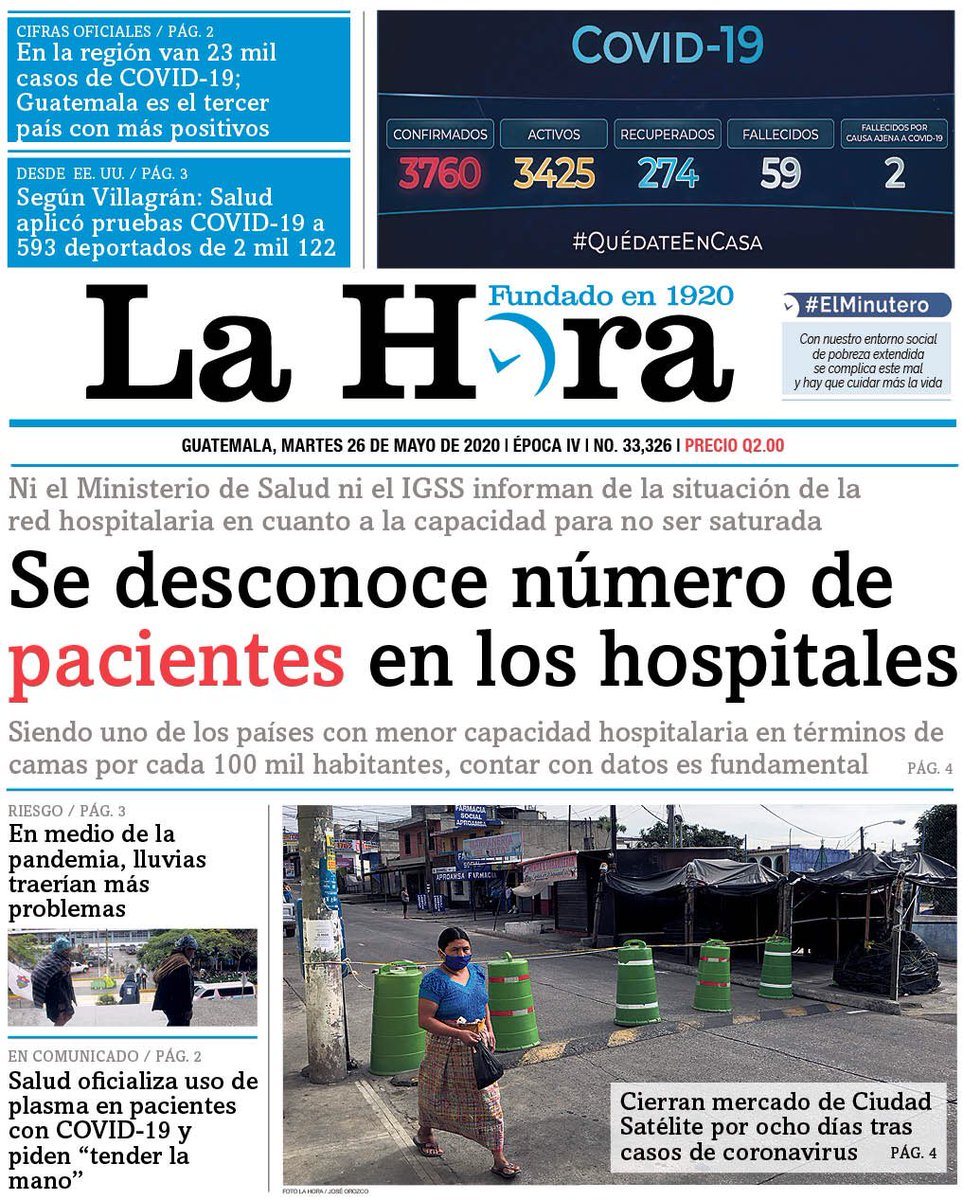 test Twitter Media - #PORTADADEHOY Se desconoce número de pacientes en los hospitales https://t.co/QFfgu5n0tW