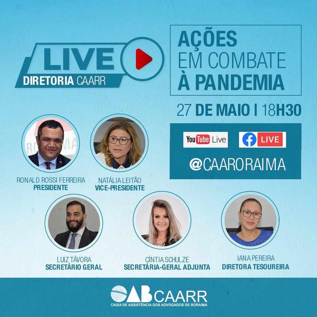 Anote na sua agenda e venha interagir conosco através do youtube e facebook. Não perca! #live #combate #advogado #advogada #caarr #boavista #roraimapic.twitter.com/iePMse8Sxa