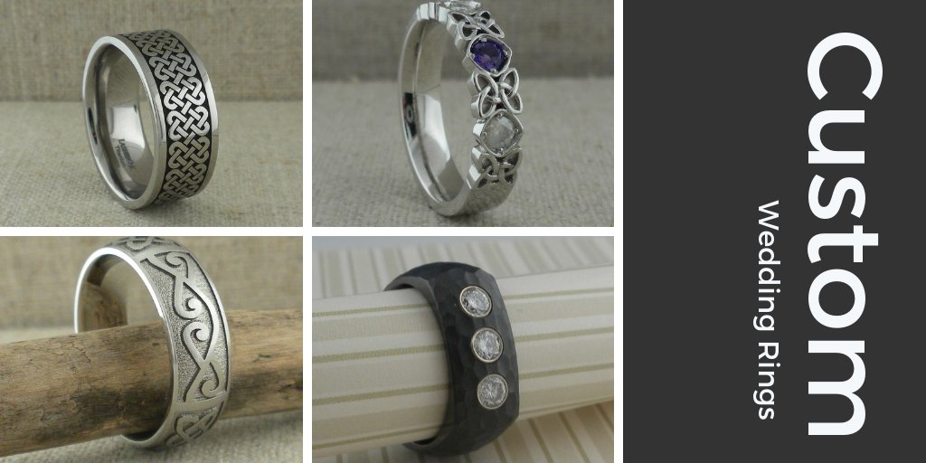 Custom Design your own wedding rings  #Weddings #WeddingRings #CustomWeddingRings