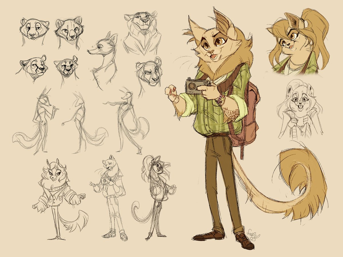 Instagram chose traits and I did a #characterdesign based off that. Very fun challenge, definitely made me think outside my little comfort box! pic.twitter.com/x0nyJZq44U
