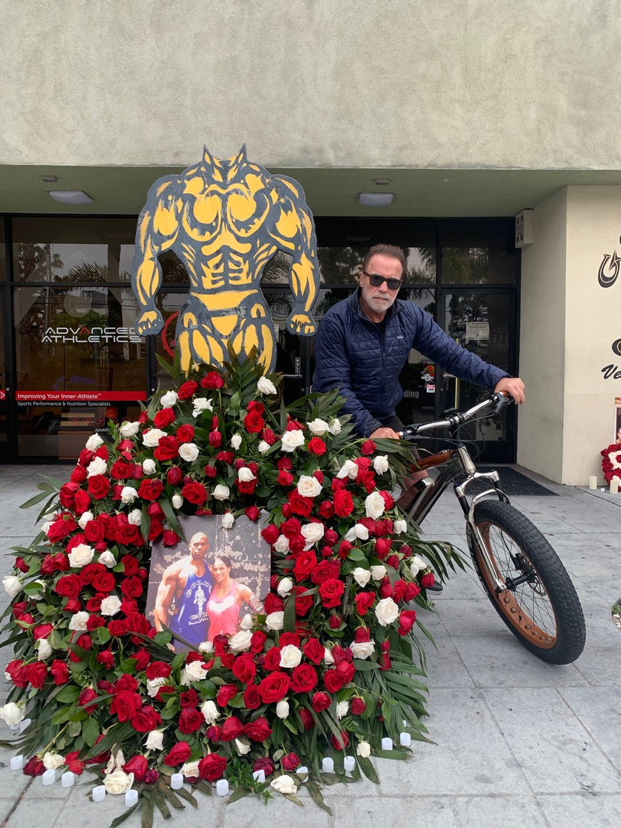 On my bike ride today I stopped to pay respects to Shad Gaspard. He was such a positive force in the gym and the world. He was a hero in bodybuilding, a hero in wrestling, and the moment he told lifeguards to save his son first, the ultimate hero. My thoughts are with his family.