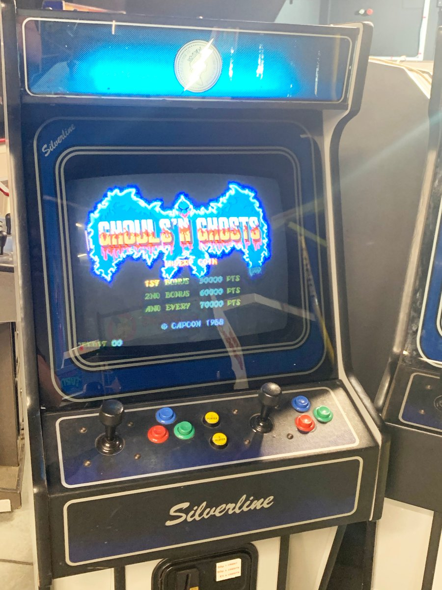 🚨🚨 NEW GAME ALERT – Ghouls 'N Ghosts 🚨🚨  As always when we put out a new game it's also housed within a new cabinet.  #newgamealert #retroarcade #retrogaming #ghoulsnghosts #capcom #retrogaminglife #goodolddays #blastfromthepast #videogames #oldschoolgamer #retrogaming