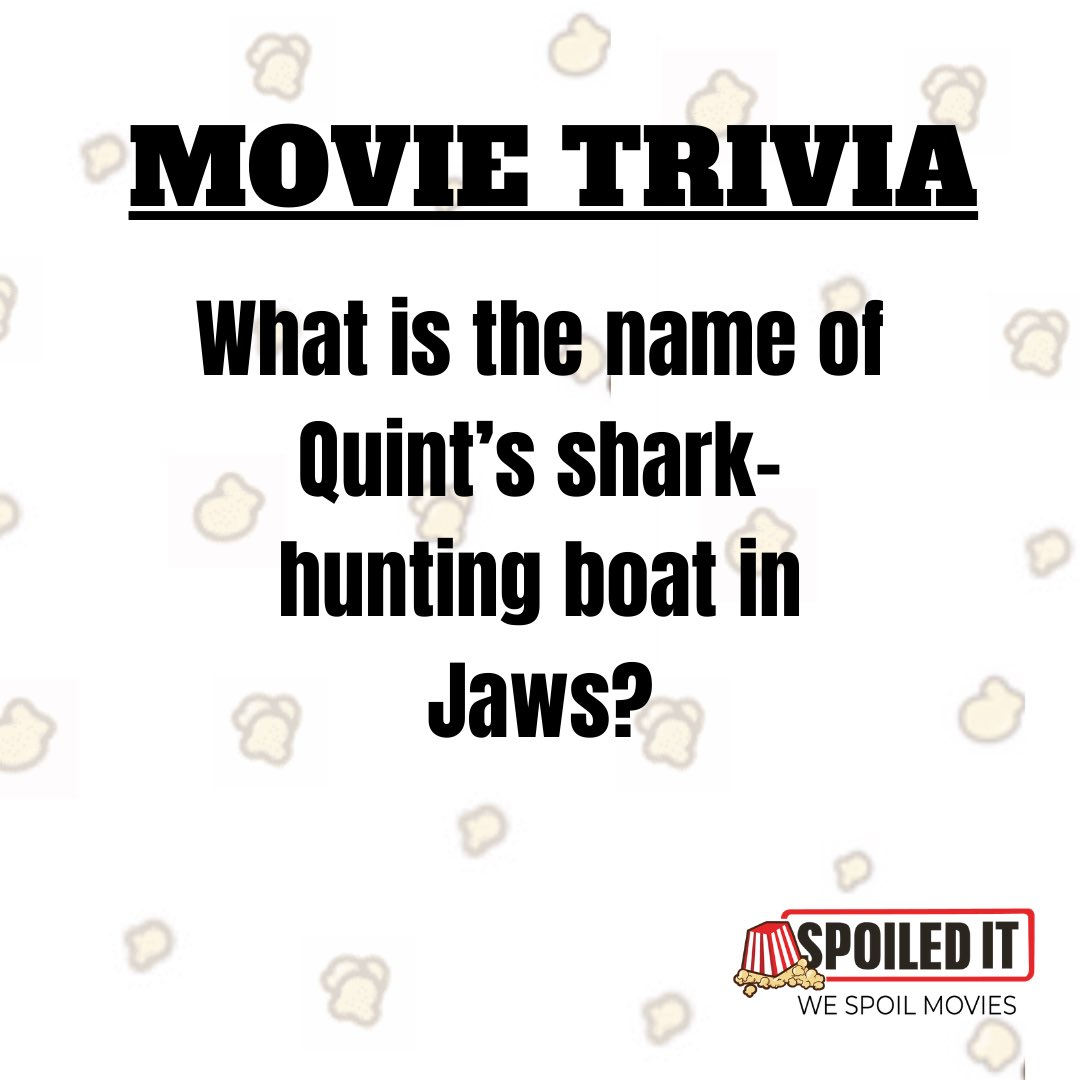 Do you know the name of the boat? #jaws #huntingboat #boats #spoiledit #spoilers #movies #trivia #movietrivia #sharks #doyouknow https://t.co/oMUx7J3EyL
