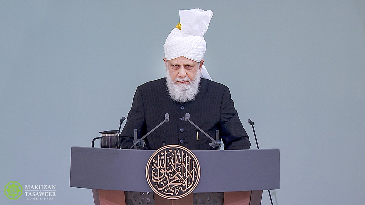 #Eid Sermon delivered in an empty Mosque to an audience of millions of Ahmadi Muslims across the world by Head of the Ahmadiyya Muslim Community | Ahmadiyya Muslim Community UK | Love For All Hatred For None #EidMubarak #عيد_مبارك loveforallhatredfornone.org/eid-sermon-del…
