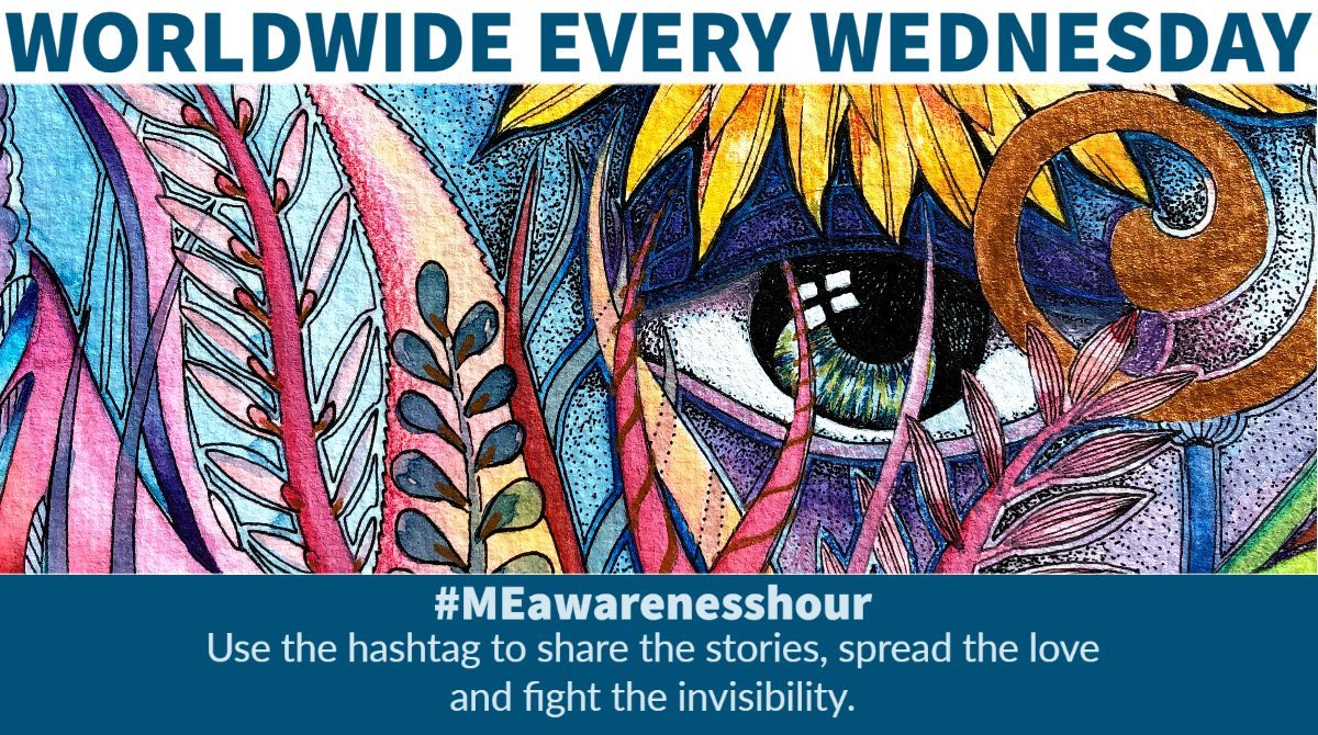 Please join us tomorrow for #MEawarenesshour - a weekly, online demonstration to raise awareness of #MyalgicEncephalomyelitis, (M.E). For 1hr every week, patients and their loved ones, from all over the world, join forces to tweet about #ME using the hashtag #MEawarenesshour. pic.twitter.com/gL1oGXt3vs