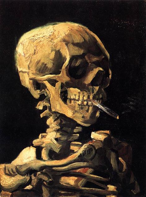 Skull with Burning Cigarette oil on canvas 32 cm x 25 cm 1886 Van Gogh Museum, Amsterdam  Vincent van Gogh  #Gogh #VanGoghMuseum #Amsterdam pic.twitter.com/bEDCsseZ3b