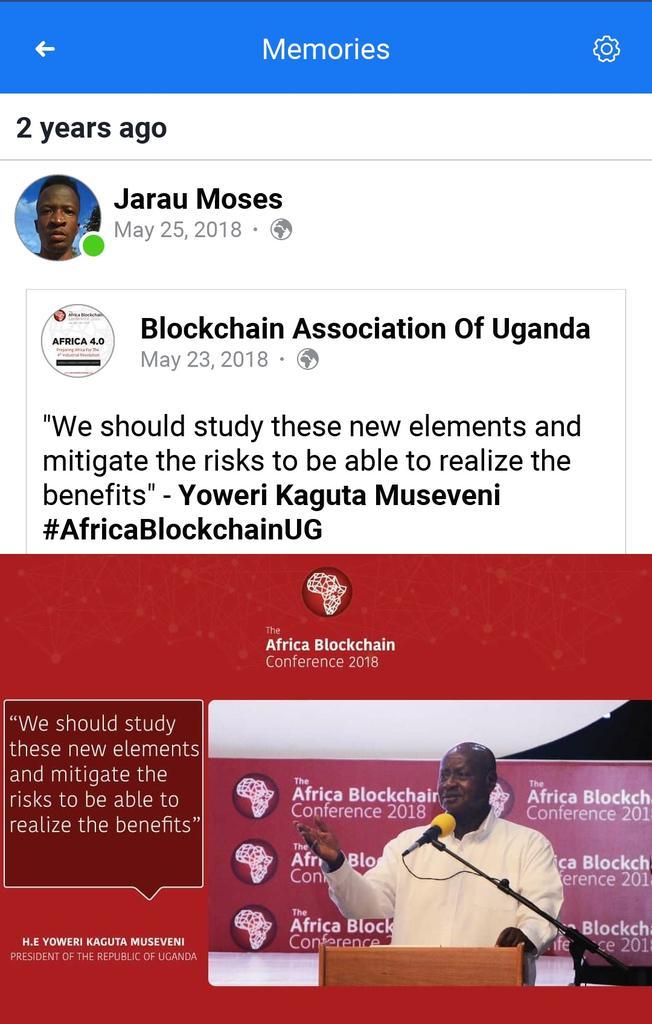 This was two years ago on the inaugural Blockchain Association of Uganda Facebook memory.  We should still continue engaging University students . #UgCrypto #crypto  @CryptoSavannah @KwameRugunda @KiberuNagenda https://t.co/JuXQ52ZSVt