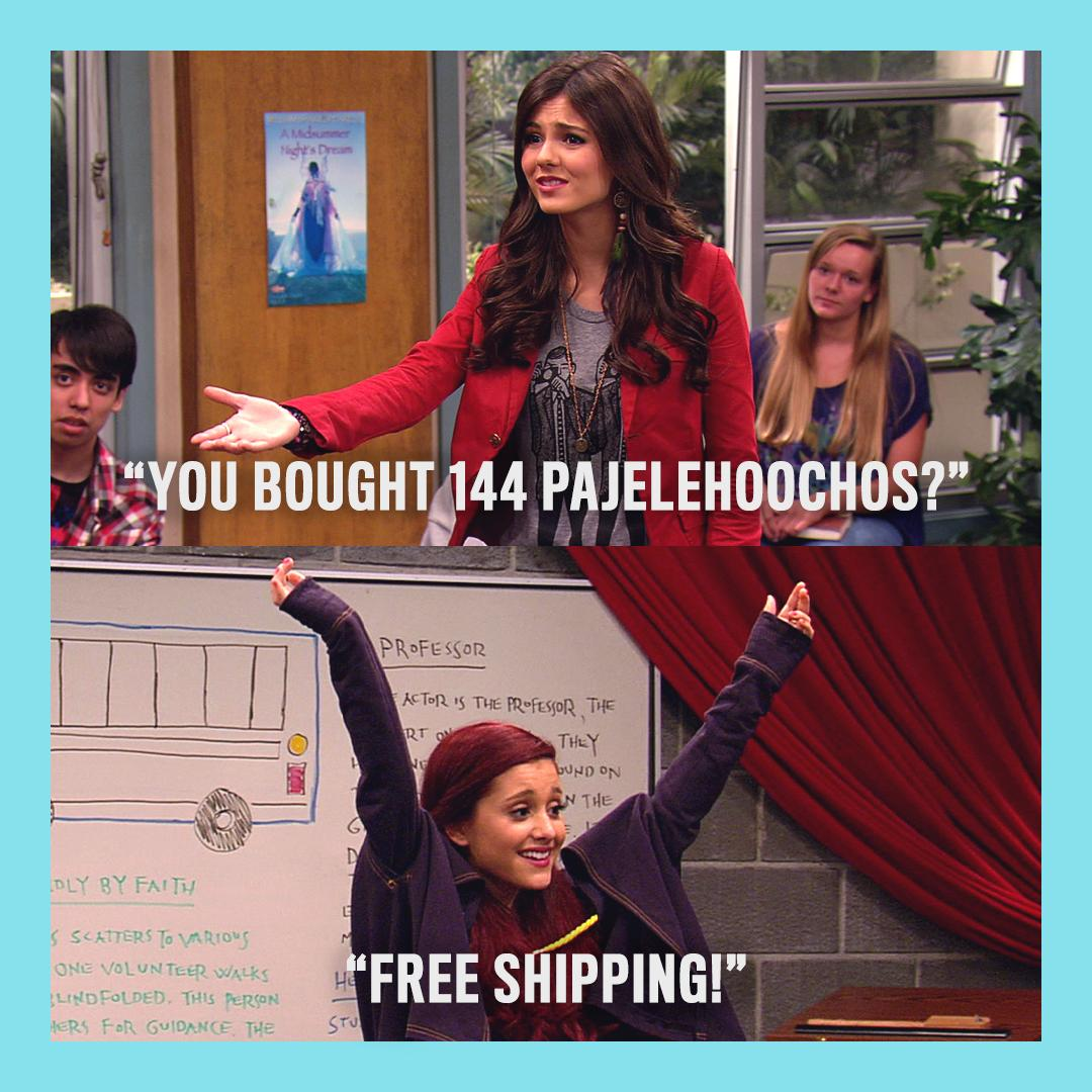 Will spend any amount for free shipping #Victorious