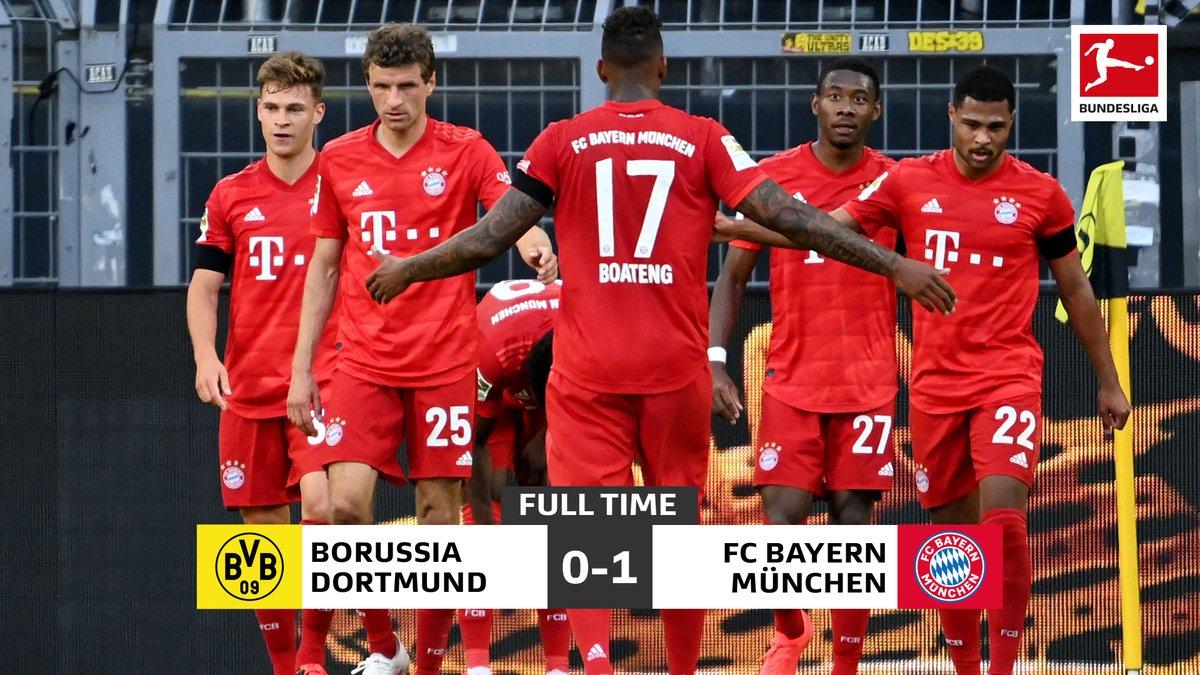 Bayern go seven points clear of Dortmund    #DerKlassiker #BVBFCB <br>http://pic.twitter.com/Ag6DCbFows