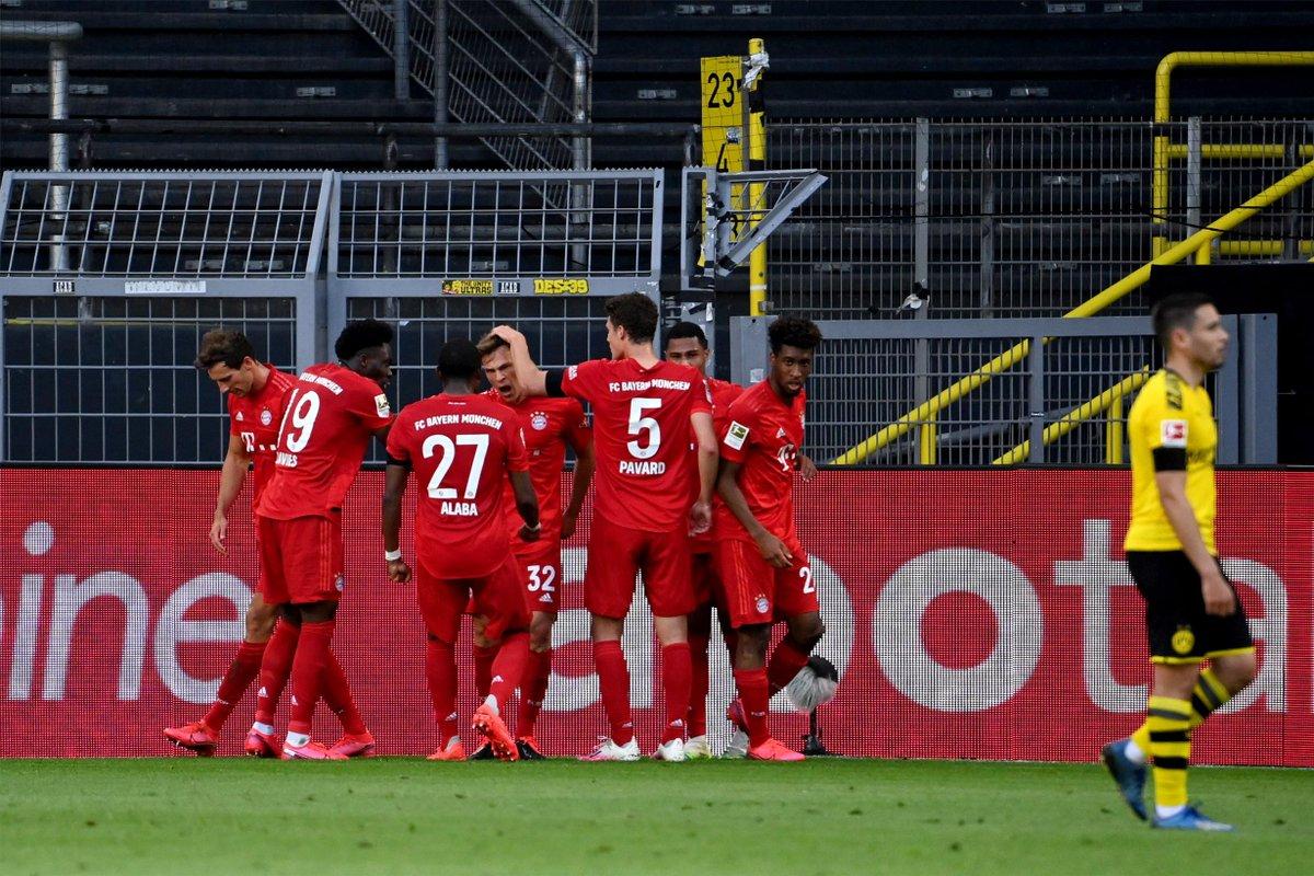 #Bundesliga 🇩🇪  💥 ¡FINAAAAL!   🏆 ¡El Dortmund no consigue superar al Bayern y se aleja en la clasificación!  🏠 Primer partido que pierde el Borussia en casa  🟡⚫️ 0- 1 🔴🔴 (90'+3')  #ENDIRECTO 📲 https://t.co/GEdTwJEmE9 https://t.co/GJyH6z5Nb5