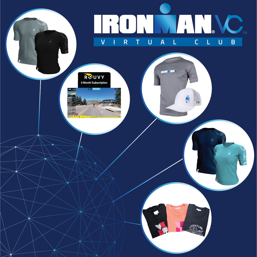 Ready for a Challenge? Take on any (or all) of our 5 IRONMAN Virtual Club Challenges this week as you gear up for #IRONMANVR9! Five lucky finishers of each Challenge can win ROUVY subscriptions, Ventum racing bundles, Compressport training tees, and more! #AnywhereIsPossible