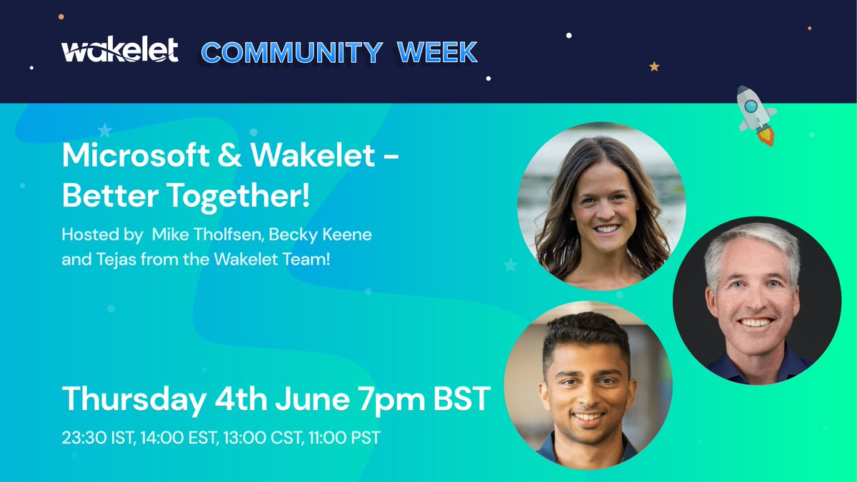 Have you registered for this amazing @MicrosoftEDU + @wakelet session⁉️⁉️ Join @mtholfsen, @BeckyKeene and me to learn about all our amazing integrations and updates 🤩🕺🌊 Registration link 👇zoom.us/webinar/regist… #Wakeletwave #MIEExpert #Remotelearning