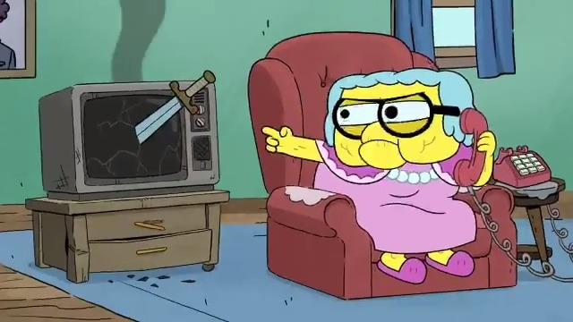 Is smashing a TV with a sword a good reason to call an electronics store? It is if youre Gramma from #BigCityGreens! Watch this weeks prank call, and check out more calls from #DisneyTVA characters on @DisneyChannels YouTube: di.sn/6002GDZMj